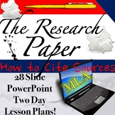 The Research Paper: MLA Format, In-text Citations, and Cit