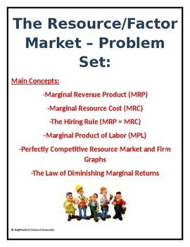 The Resource Market - Problem Set