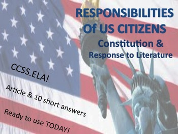 The Responsibilities of American Citizens
