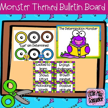 The Responsibility & Determination Monsters:  Bulletin Board Set