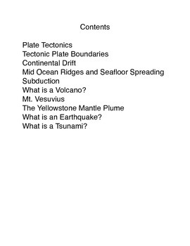 The Restless Earth Common Core workbook