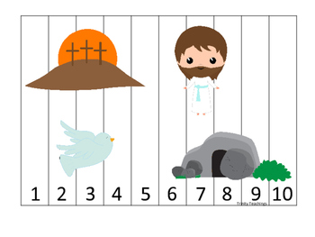 The Resurrection 1-10 Sequence Puzzle. Preschool Bible History Curriculum Study