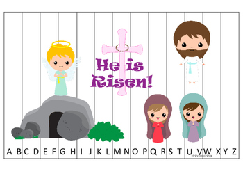 The Resurrection A-Z Sequence Puzzle. Preschool Bible History Curriculum Studie