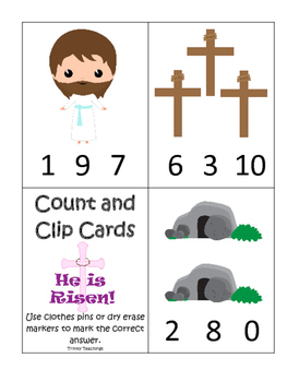 The Resurrection Count and Clip Game. Preschool Bible History Curriculum Studies