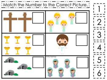 The Resurrection Match the Number Game. Preschool Bible History Curriculum Study