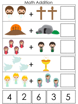 The Resurrection Math Addition Game. Preschool Bible History Curriculum Study