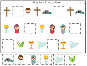 The Resurrection Missing Pattern Game. Preschool Bible History Curriculum Studie