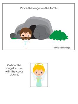 The Resurrection Positional Cards. Preschool Bible History Curriculum Study