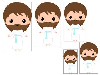 The Resurrection Size Sequencing. Preschool Bible History Curriculum Stud