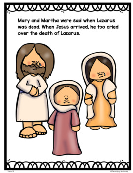 The Resurrection of Lazarus Bible Lesson (All About Series-Preschool/Kinder)