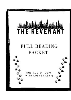 The Revenant Full Packet Instructor Copy (with answer keys)