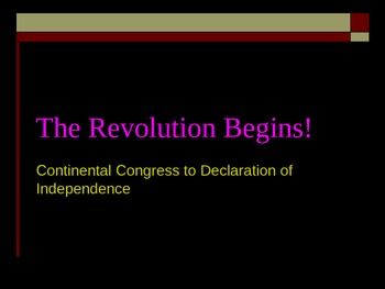 The Revolution Begins!