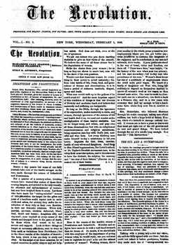 The Revolution - Susan B. Anthony Suffrage/Women's Rights Newspaper