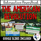 The Revolutionary War Interactive PowerPoint Notes (Google Slides Compatible)