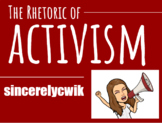 The Rhetoric of Activism: AP Language and Composition