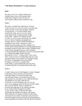 """The Rhyme Renaissance"""