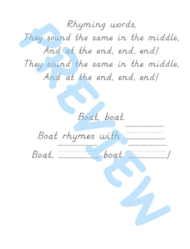 The Rhyme Song & Singable Book Project