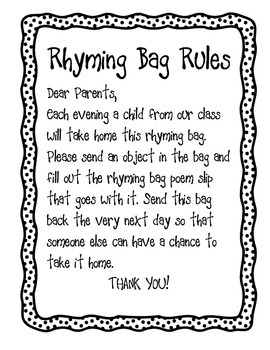 The Rhyming Bag