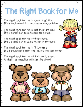 The Right Book for Me Poem