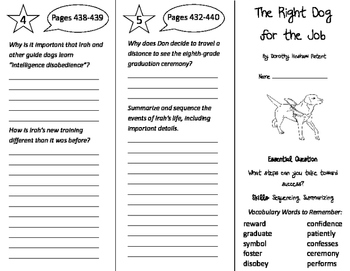 The Right Dog For the Job Trifold - Journeys 4th Grade Unit 4 Week 2 (2011)