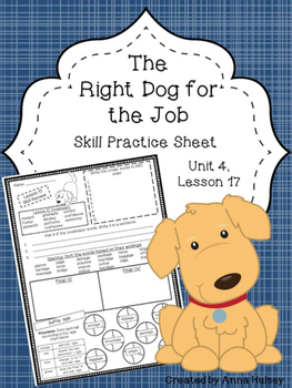 The Right Dog for the Job (Skill Practice Sheet)