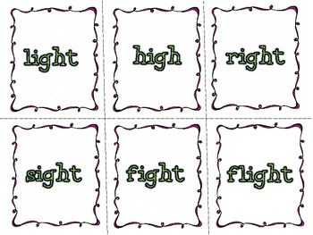 The Right Light- folder game for igh