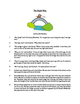 The Right Way - Literary Text Test Prep