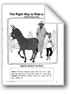 The Right Way to Ride a Donkey, a Nigerian Folktale
