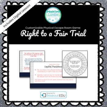 The Right to a Fair Trial Customizable Escape Room / Breakout Game