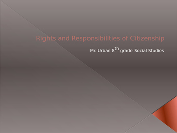 The Rights and Responsibilities of Citizenship
