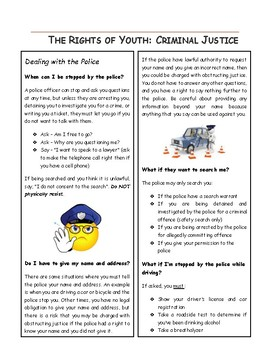 The Rights of Youth - Criminal Justice