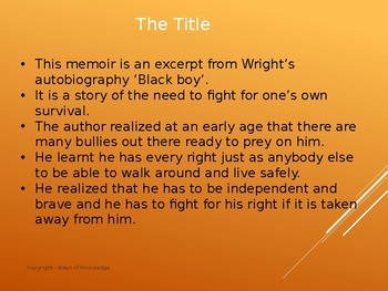 Story Review & Analysis - The Rights to the Streets of Memphis by Richard Wright