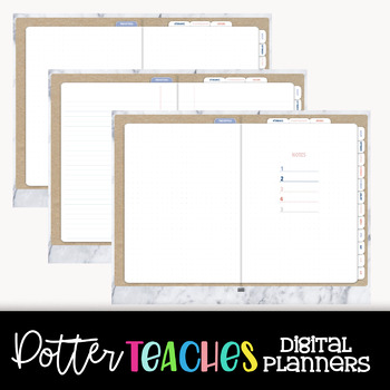 """The """"Riley""""   Undated Digital Teacher Lesson Planner for Goodnotes with Hyperlin"""