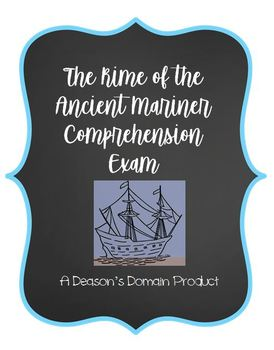 The Rime of the Ancient Mariner Editable Comprehension Exam