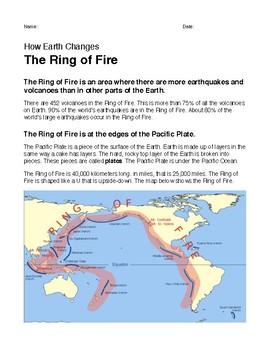 Ring Of Fire Worksheets | Teachers Pay Teachers