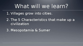 The Rise of Civilization and Mesopotamia PowerPoint Lecture