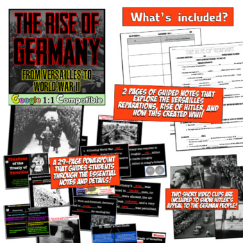 The Rise of Germany:  From Versailles to World War Two! The Beginnings of WWII!