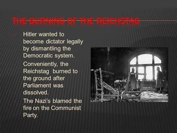 The Rise of Hitler Powerpoint and Notes