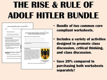 Nazi Germany Bundle - Global/World History Common Core