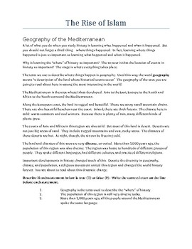 The Rise of Islam (History / Social Studies)