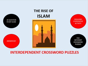 The Rise of Islam: Interdependent Crossword Puzzles Activity