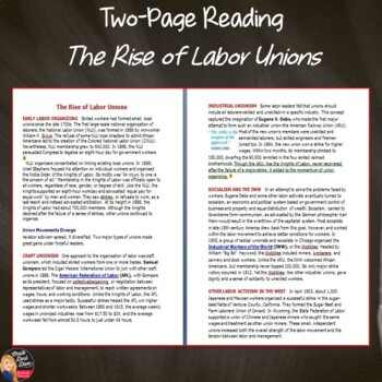the rise of labor unions in the u s industrial revolution print and digital. Black Bedroom Furniture Sets. Home Design Ideas