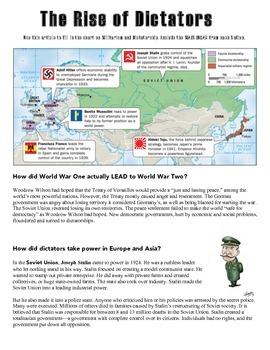 The Rise Dictatorships