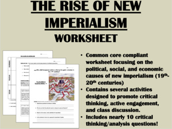 The Rise of New Imperialism worksheet
