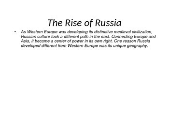 The Rise of Russia Powerpoint