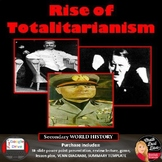 Totalitarianism Lecture & Review Game  Stalin Hitler Mussolini Print and Digital