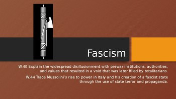 The Rise of pre-WWII Fascism