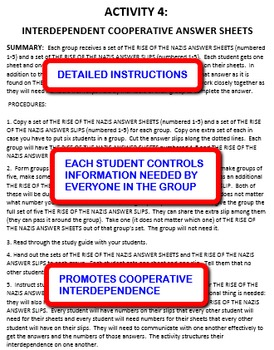 The Rise of the Nazis: Interdependent Answer Sheets Activity