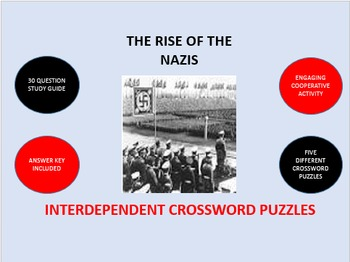 The Rise of the Nazis: Interdependent Crossword Puzzles Activity