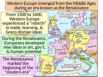 The Rise of the Renaissance- Basic Renaissance Info PowerPoint